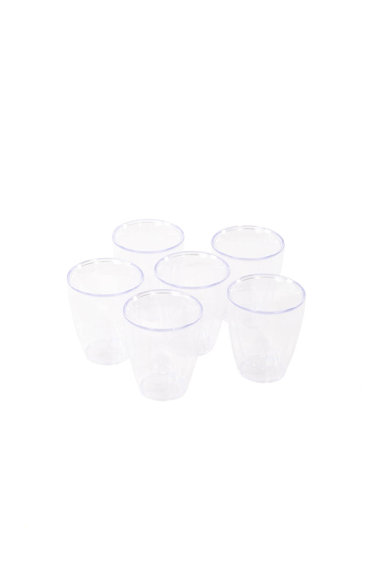 Double Walled Non-Burning Drinking Set 6 Pieces
