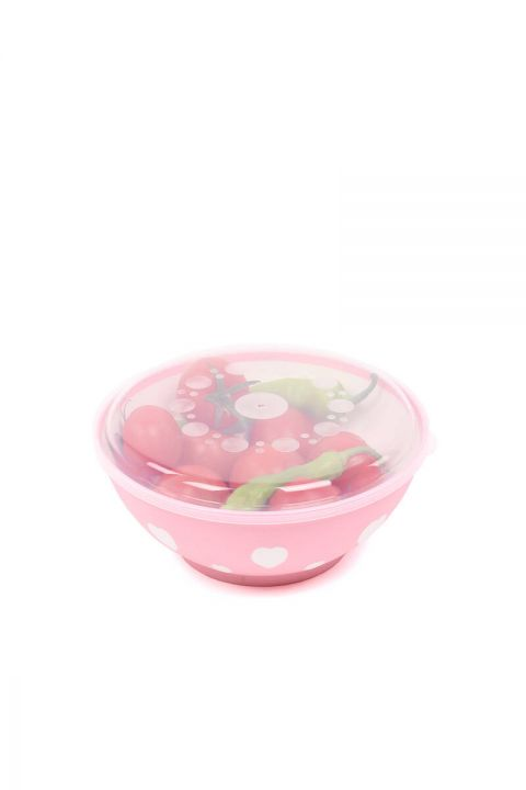 Heart Round Bowl Covered 3 LT
