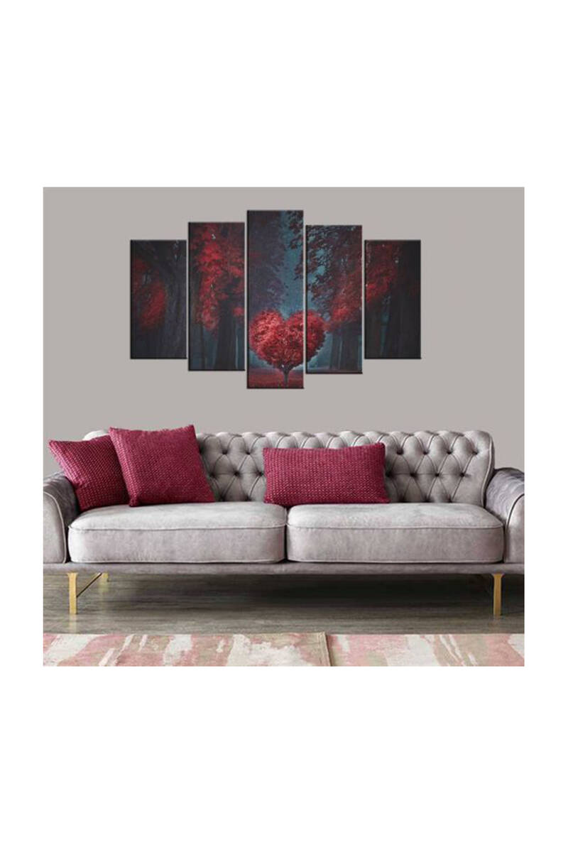 Дерево в форме сердца, 5 частей, Mdf Painting