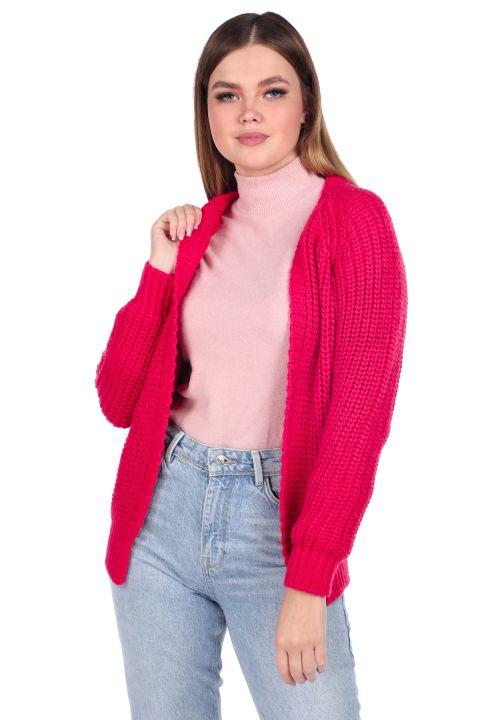 Light Pink Women's Knitwear Cardigan