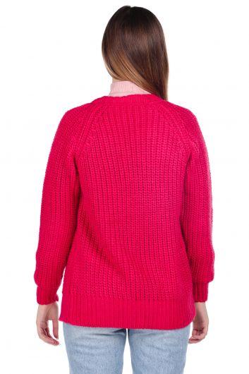 MARKAPIA WOMAN - Светло-розовый женский трикотажный кардиган (1)