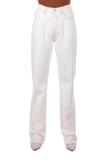 High Waist Wide Leg Jeans - Thumbnail