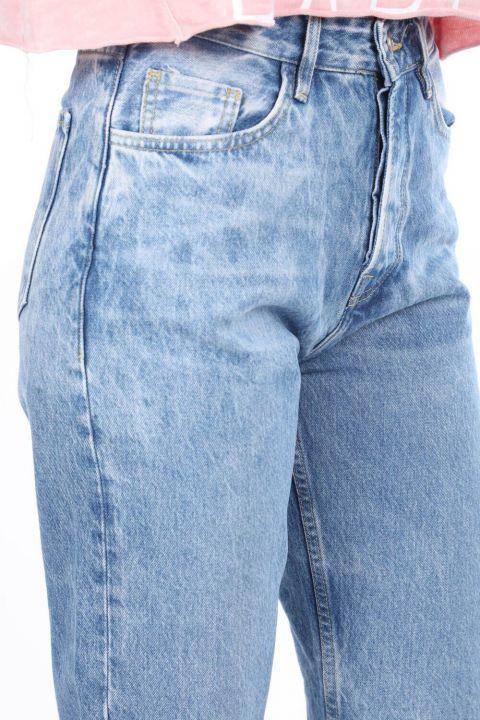 بنطال جينز بخصر مرتفع وواسع