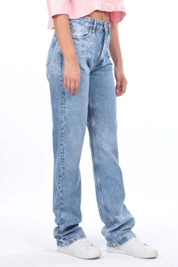 High Waist Wide Leg Jeans - Thumbnail