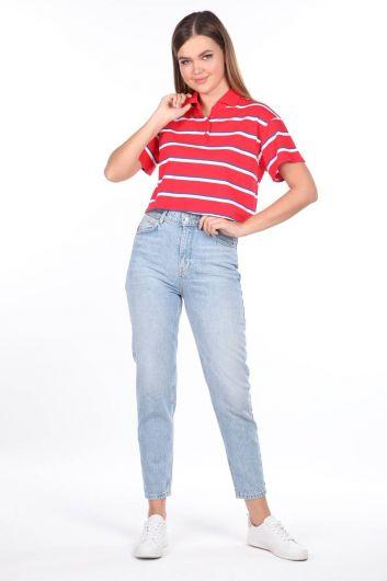 جينز أمي بخصر مرتفع - Thumbnail