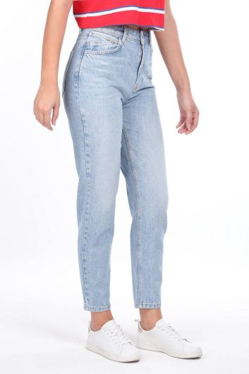 High Waist Mom Jeans - Thumbnail