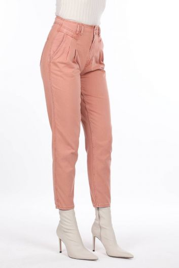 MARKAPİA WOMAN - High Waist Pleated Jean Trousers (1)