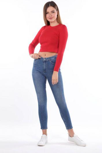 High Waist Skınny Jeans - Thumbnail