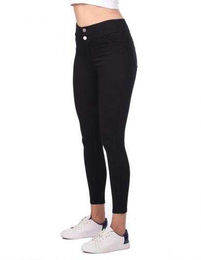 MARKAPIA WOMAN - Черные джинсы скинни с высокой талией (1)