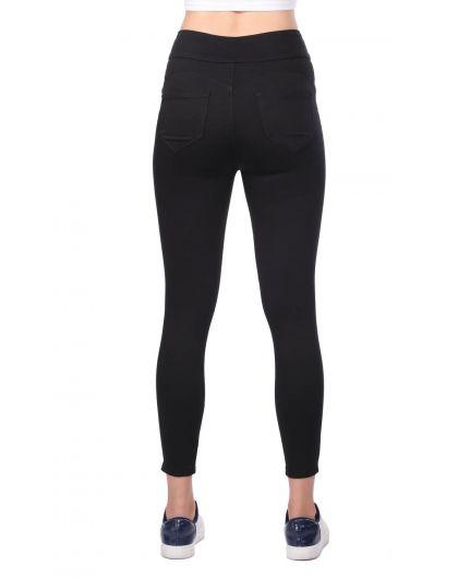 Черные джинсы скинни с высокой талией - Thumbnail