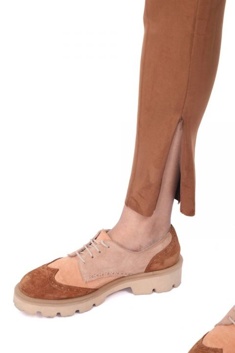 High Waist Velvet Trousers