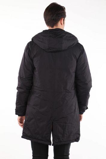 معطف رجالي بغطاء للرأس - Thumbnail