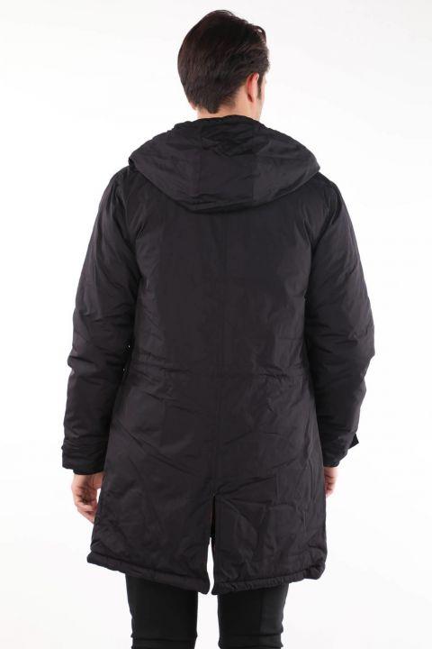 Мужское пуховое пальто с капюшоном