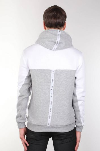 Men's Hooded Sweatshirt with Pocket and Shawl - Thumbnail