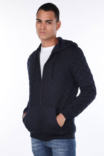 MARKAPIA MAN - Hooded Quilted Men's Cardigan (1)