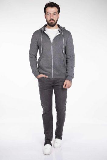 MARKAPIA - Men's Hooded Zipper Cardigan (1)