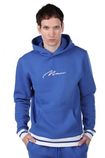 Men's Hooded Sweatshirt with Inner Fleece - Thumbnail