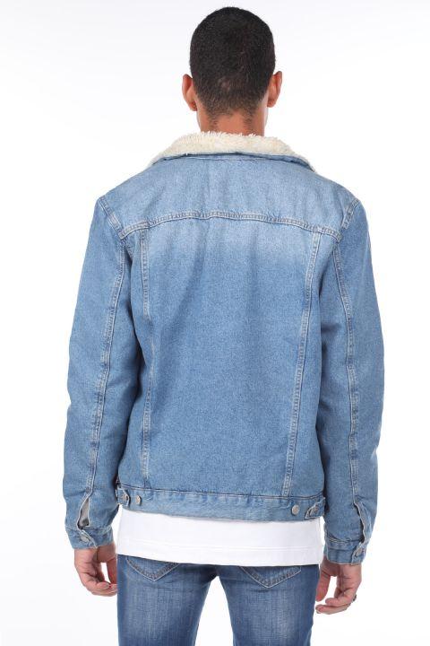 Куртка мужская джинсовая с мехом внутри