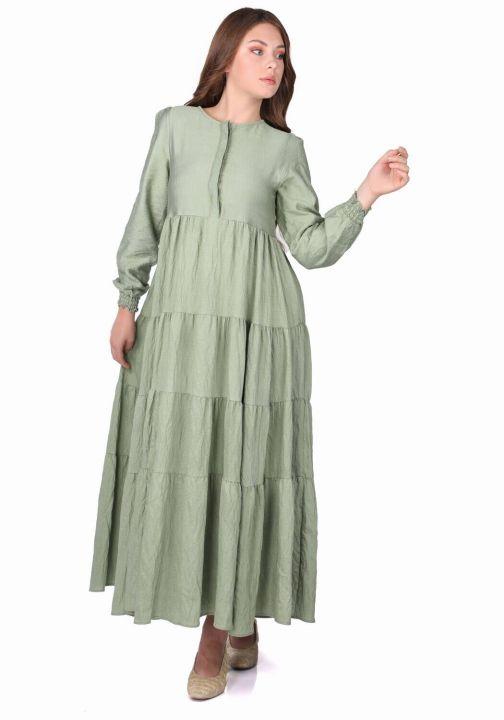 فستان طويل مستقيم