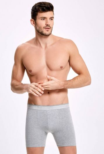 İLKE İÇ GİYİM - İLKE 005 LONG MALE BOXER WITH LYCRA 10 PIECES (1)