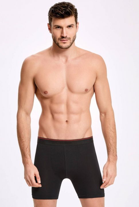 İLKE 005 LONG MALE BOXER WITH LYCRA 10 PIECES