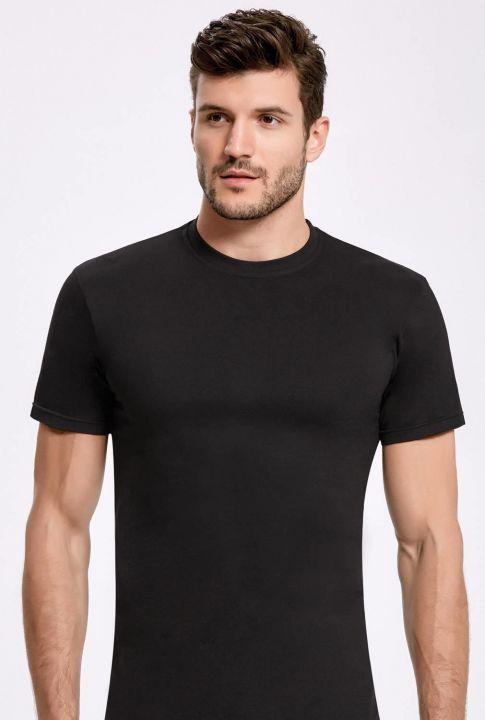 İlke Siyah Bisiklet Yaka Erkek T-Shirt