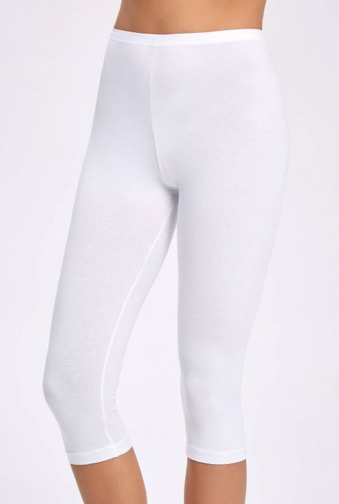 İLKE 2257 CAPRI LYCRA WOMEN WHITE TIGHTS 10 PIECES