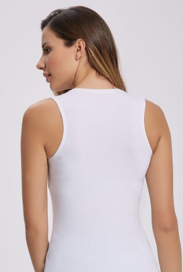 İLKE İÇ GİYİM - ILKE 2264 LYCRA SLEEVELESS BADI WITH O COLLAR 5 PIECES (1)