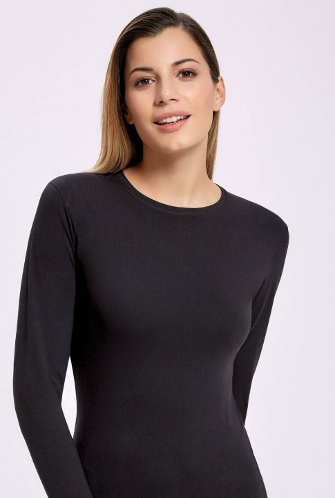 İLKE 2311 LYCRA LONG SLEEVE BLACK WOMEN'S BADI 5 PIECES