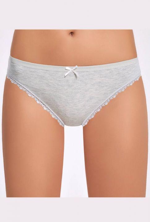 Ilke 278 Melanjlı Dantelli Kadın Bikini Külot 3 Adet
