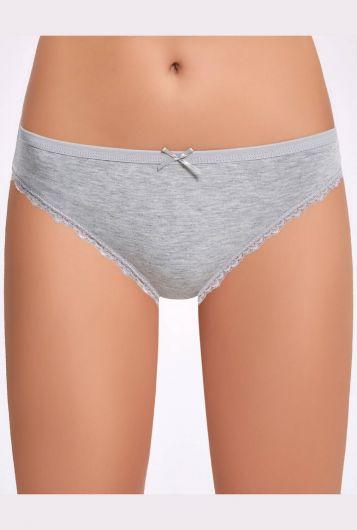 Ilke 278 Melanjlı Dantelli Kadın Bikini Külot 3 Adet - Thumbnail