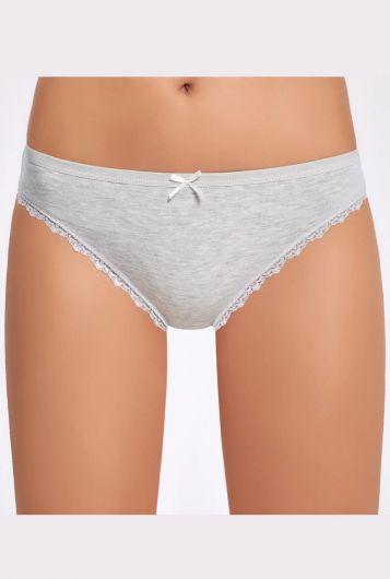 İlke Melanjlı Dantelli Bikini Külot - Thumbnail