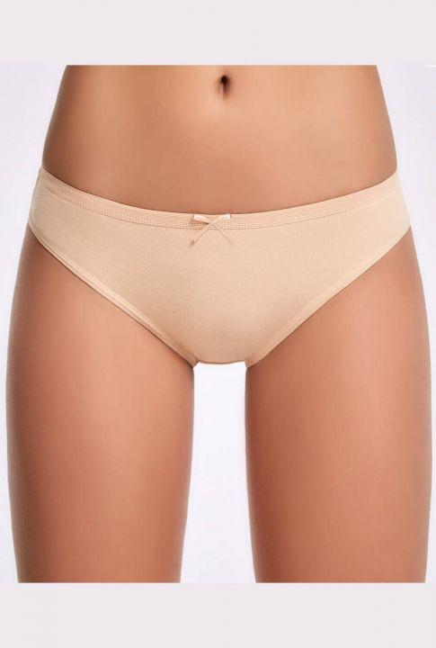 İlke Fiyonklu Ten Kadın Bikini Külot 3 Adet