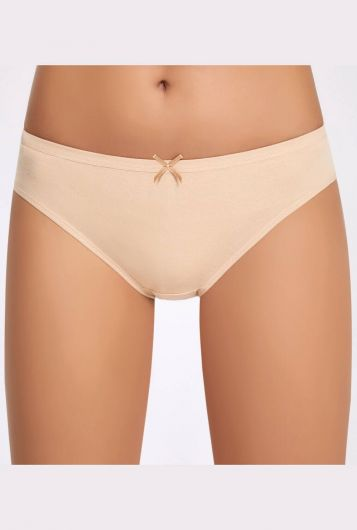 İlke Likralı Fiyonklu Kadın Bikini Külot 3 Adet - Thumbnail