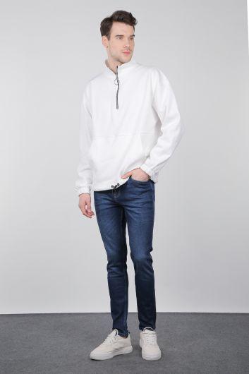 Мужские джинсовые брюки Indigo Slim Fit - Thumbnail