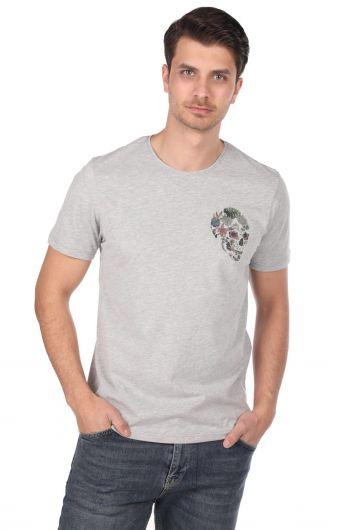 MARKAPIA MAN - Мужская футболка с круглым вырезом и узором черепа (1)