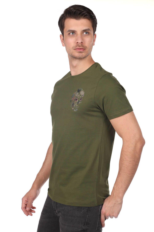 Kuru Kafa Desenli Erkek T-Shirt