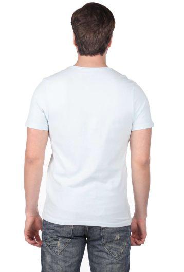 Kuru Kafa Desenli Erkek T-Shirt - Thumbnail