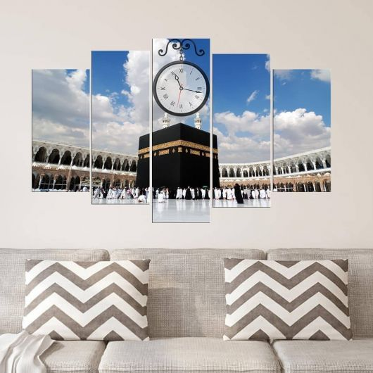Kaaba 5 Pieces Mdf Clock Table - Thumbnail