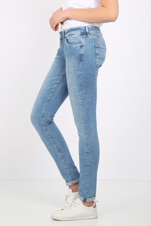 Kadın Açık Mavi Dar Paça Jean Pantolon