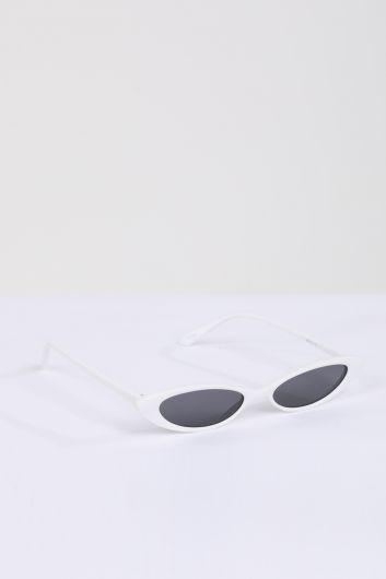 MARKAPIA WOMAN - Kadın Beyaz Retro Güneş Gözlüğü (1)