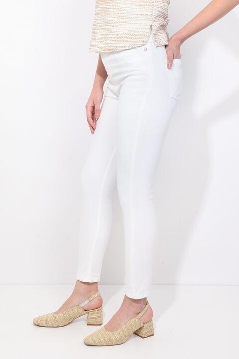 Kadın Beyaz Slim Fit Jean Pantolon