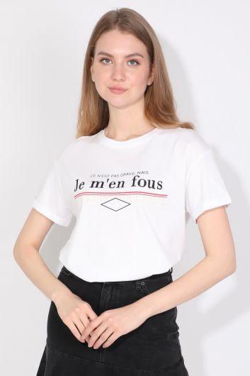 MARKAPIA WOMAN - Kadın Bisiklet Yaka Basic T-shirt Beyaz (1)