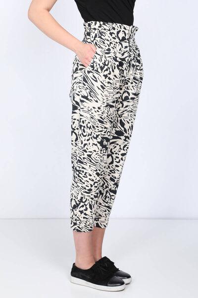 MARKAPIA WOMAN - Kadın Desenli Paperbag Duble Paça Pantolon (1)