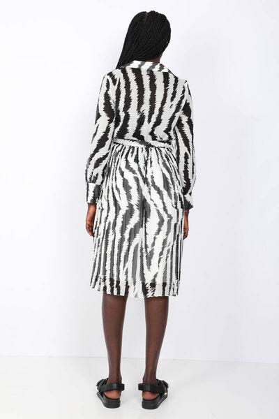 MARKAPIA WOMAN - Kadın Desenli Piliseli Şifon Elbise (1)