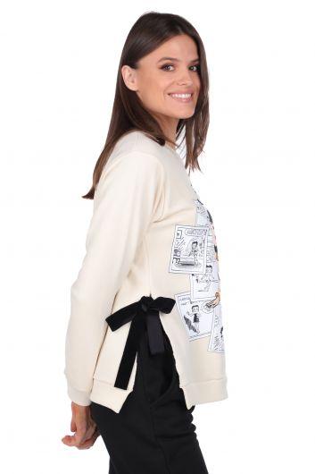 MARKAPIA WOMAN - Kadın Ekru Betty Boop Baskılı Sweatshirt (1)