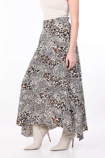 MARKAPIA WOMAN - Женская асимметричная юбка с леопардовым узором (1)