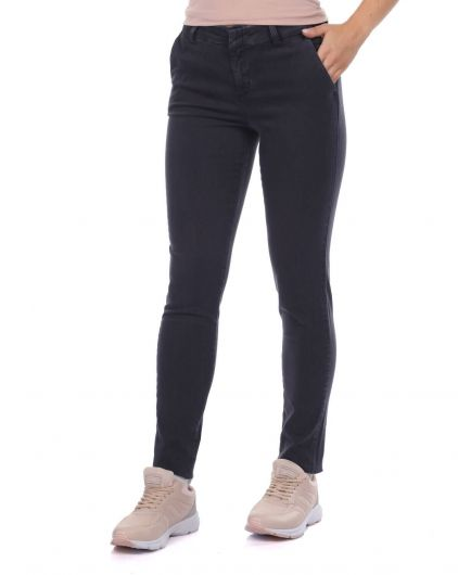 BLUE WHITE - Kadın Orta Bel Jean Pantolon (1)