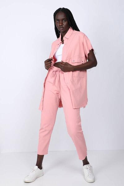 MARKAPIA WOMAN - Kadın Pembe Cepli Basic Ceket (1)