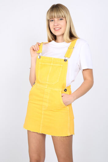 MARKAPIA WOMAN - Kadın Sarı Denim Tulum Etek (1)